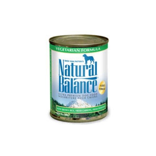 NATURAL BALANCE PET FOODS - VEGETARIAN DOG CAN 12/13OZ Case **FORMULA