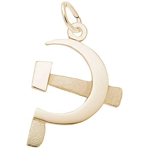 (Rembrandt Charms Hammer & Sickle Charm, 14K Yellow Gold)