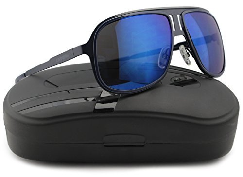 Carrera 101/S Sunglasses Matte Blue w/Blue Mirror (0KLV) 101 KLV XT 59mm - Sunglasses Carrera Authentic