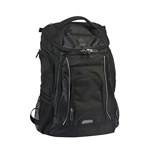 ful Edrik Padded Laptop Backpack, Black, One Size