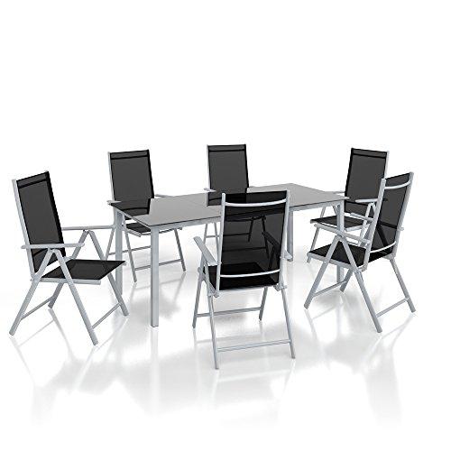 Alu-Sitzgarnitur-Gartenmbel-Set-7-teilig-Garnitur-Sitzgruppe-1-Tisch-190x87-6-Sthle