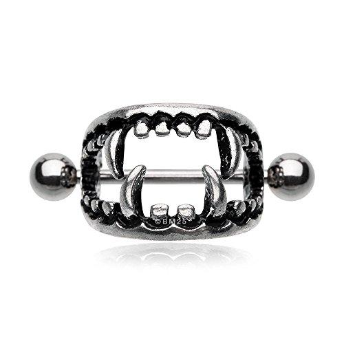 Fang Ring (Vicious Vampire Fang Nipple Shield Ring)
