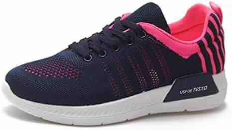 4.5, Purple QLQi Women Fashion Comfortable Air Cushion Sport Shoes Anti-Skid Breathable Mesh Running Sneakers