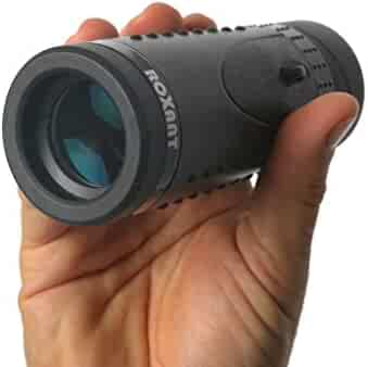 ROXANT ROX-GS Authentic Grip Scope HD Wide View Monocular - with Retractable Eyepiece and Fully Multi Coated Optical Glass Lens + Bak4 Prism, Black Pack