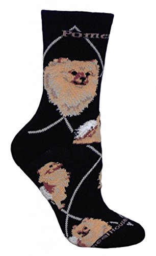 Pomeranian Gifts (Pomeranian Animal Socks On Black 9-11)