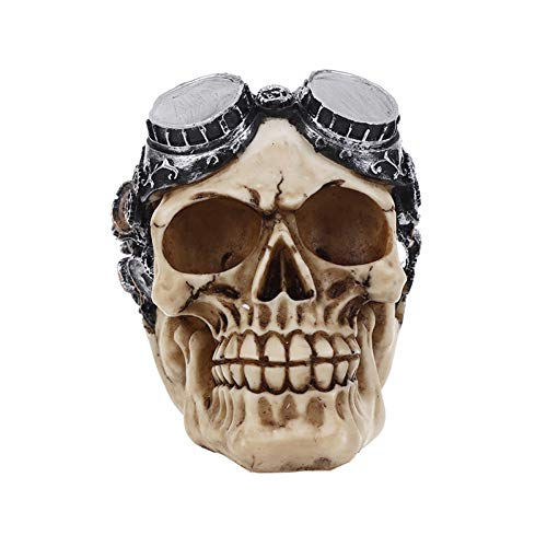 AAA&LIU Resin Craft Art Painting Statues for Model Replica Decoration Skull Creative Statue Sculpture Home Accessories Halloween]()