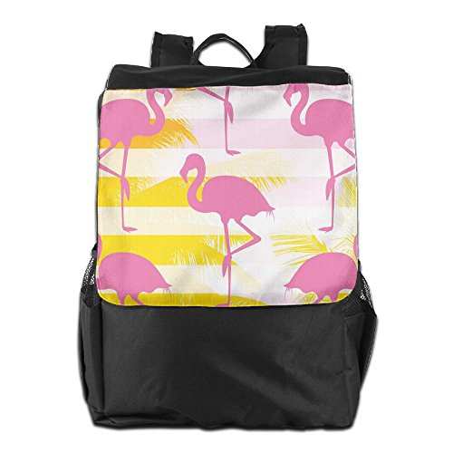 Adjustable School Personalized Outdoors Backpack Beautiful Travel For Women Flamingos HSVCUY Strap And Men Dayback Shoulder Storage Camping XgxT81w