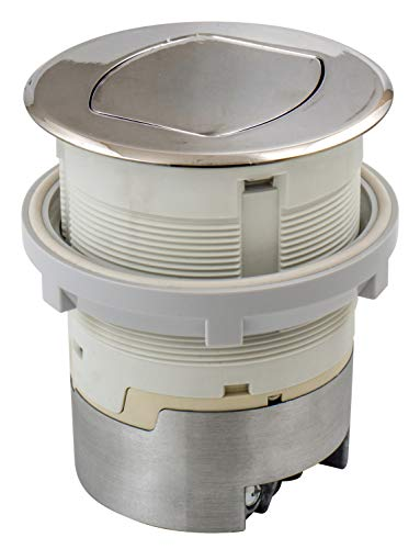 Bryant Electric RCT200NI Pop, Countertop Receptacle, Polished Nickel by Bryant Electric (Image #1)