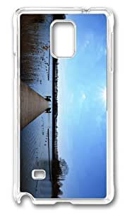 Adorable lake pier Hard Case Protective Shell Cell Phone Samsung Galaxy Note2 N7100/N7102 - PC Transparent