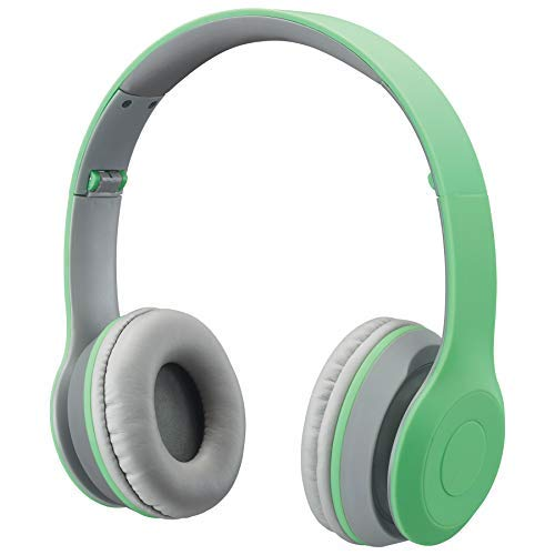 iLive Bluetooth Head Phones, with On-Ear Controls, Matte Light Green (IAHB38LTL)