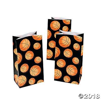 Basketball Treat Bags (24 Bags) Paper bags]()