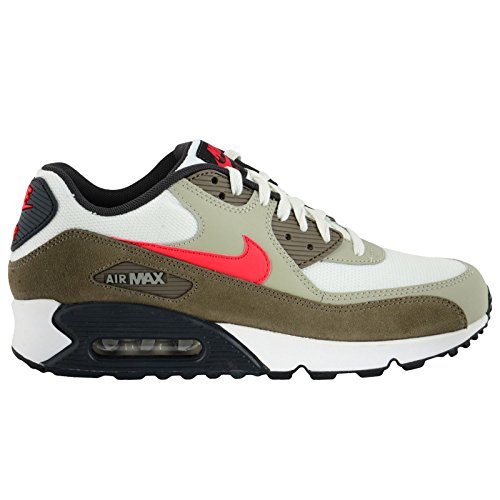 Nike Men's Air Max 90 Essential Smmt WhiteUnvrsty RdBg Chlk Running Shoe 13 Men US