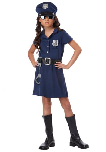 Cop Girl Costume (California Costumes Police Officer Child Costume, Medium)
