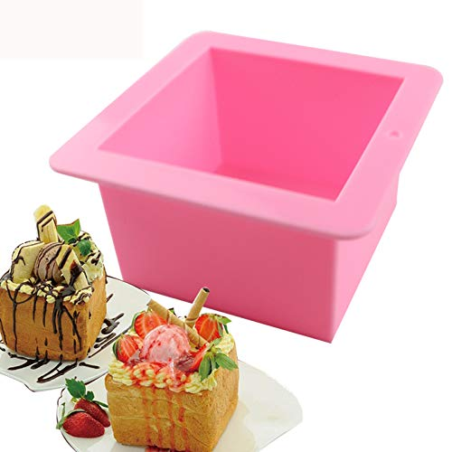 - BAKER DEPOT 500ML Silicone Mold for Handmade Soap Mold Toast Mold Bread Mould Square, Set of 2