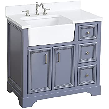 Amazon Com Zelda 36 Inch Bathroom Vanity Quartz Powder