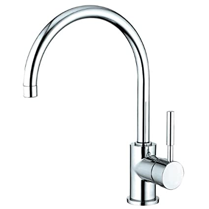 Kingston Brass Ks8711dlls Concord Single Handle Kitchen Faucet With 8 Plate Without Sprayer Polished Chrome 8 1 2 Spout Reach