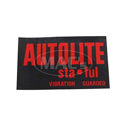 MACs Auto Parts 6668965 Autolite StaFul Battery Decal Thunderbird