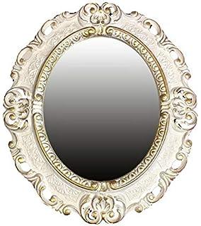 Muebles Antiguos Y Decoración Espejo De Pared Plata Envejecida Ovalado 45 X 38cm Barroca Antiguo Reproducción Arte Y Antigüedades