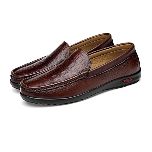 Mocassini chiusura 38 Uomo Brown da Black 2018 EU Scarpe slittamento da Da classici a uomo Color con Crocodile Shufang Mocassini gomma Mocassini in barca da guida Dimensione shoes Crocodile Casual wqTIOWSF