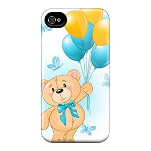 For XWsvUaR8939RRWLG Cute Teddy Bear Protective Case Cover Skin/iphone 4/4s Case Cover