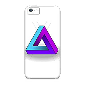 New Premium Flip Case Cover Triangle Skin Case For Iphone 5c