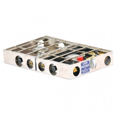 Partner 2 Burner - Stoves from Partner Steel - 2 Burner 12x18 inches