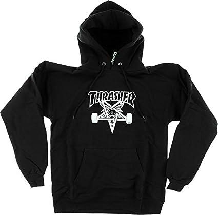 Amazon.com  Thrasher Skategoat Hooded Sweatshirt  Large  Black ... e4fdb3d0273e