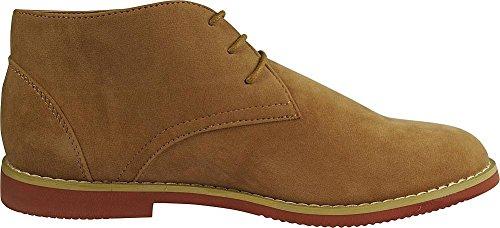 Via Farinella Heren Classic Chukka Desert Boots Sand