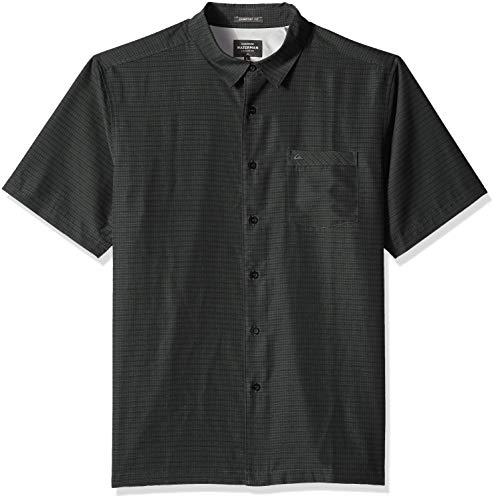 Quiksilver Waterman Men's Centinela 4 Button Down Shirt, Black L