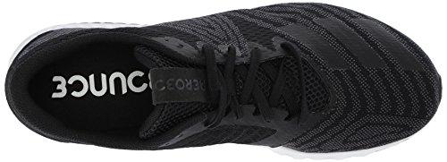 Adidas Mens Aerobounce Pr M Scarpa Da Corsa Nucleo Nero / Argento Metallico / Bianco