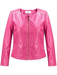Amazon.com: Pink - Leather & Faux Leather / Coats, Jackets & Vests ...