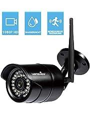 Wansview WLAN IP Kamera, Sicherheitskamera 1080P HD für Außen/IP cam mit LAN & WLAN Verbindung/Outdoor IP66 wasserdichte Netzwerkkamera, Infrarot Nachtsicht, deutsche App/Anleitung/Support