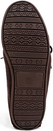 Hausschuhe Sole Herren Braun with Dunkelbraun Rubber Lambswool Moccasin Snugrugs gYUwq