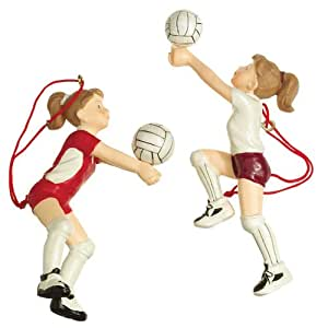 Girl Volleyball Player Ornaments