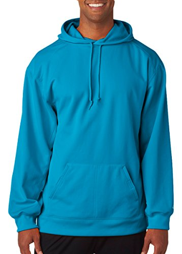 (Badger Adult BT5 Performance Fleece Poly Hoodie 1454 -Electric Blu XS)