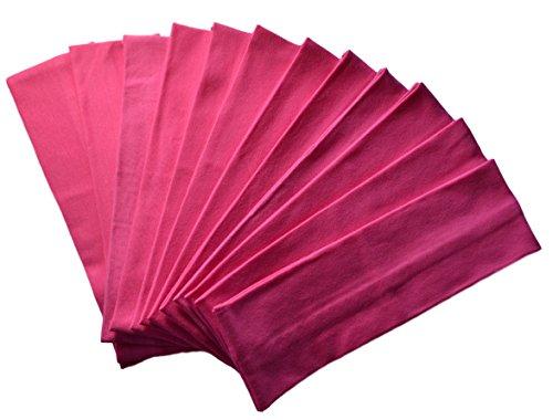 Hot Pink Design - 1 Dozen 2.5 Inch Official Funny Girl Designs Cotton Headbands (Official Funny Girl Hot Pink)