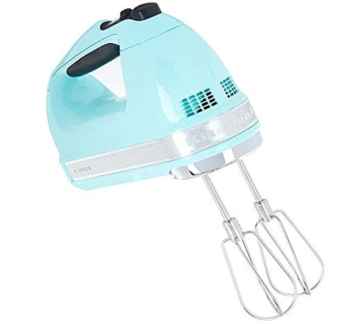 KitchenAid (Renewed) RKHM9ic 9-Speed Most Powerful Digital Display Power Hand Mixer Ice Blue (Teal Kitchenaid Hand Mixer)