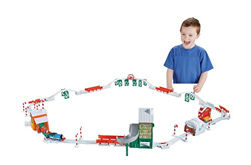 Fisher-Price Thomas the Train TrackMaster Holiday Cargo Delivery Set [Amazon Exclusive]