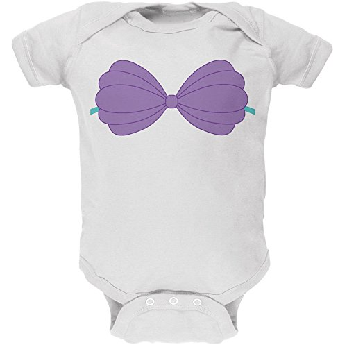 Old Glory Halloween Purple Shell Bra Costume White Soft Baby One Piece - 0-3 Months for $<!--$16.95-->