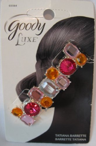 Goody Luxe Tatianna Pink and Orange Rhinestone Barrette