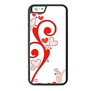 Red Hearts And Swirls Hard PC Back Case Cover For HTC One M7