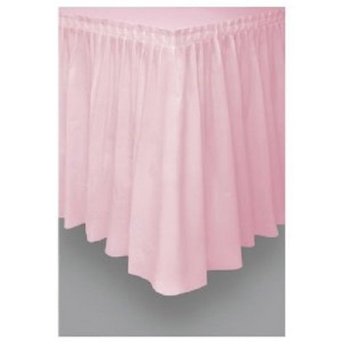 [Pink Plastic Table Skirt 29