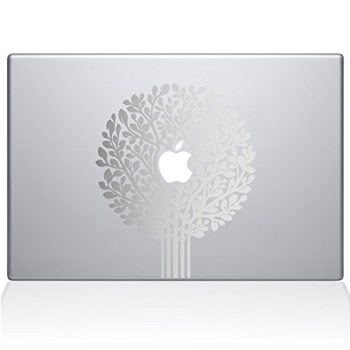 Make Topiary Tree - The Decal Guru 2064-MAC-13A-S Tree of Life Topiary Decal Vinyl Sticker, Silver, 13\