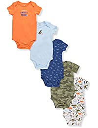 Baby Boys' 5-Pack Short Sleeve Original Bodysuits (Dinosaur)