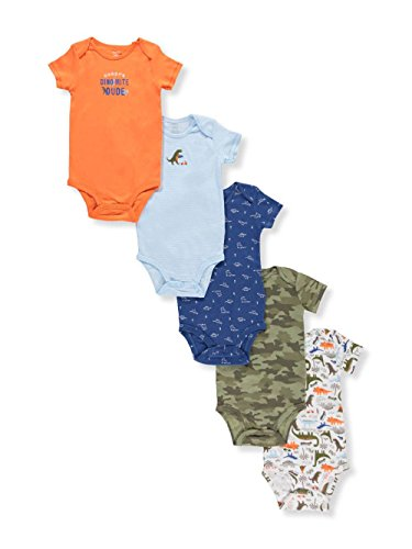 Carters Baby Boys 5 Pk  Short Sleeve Original Bodysuits 12 Months