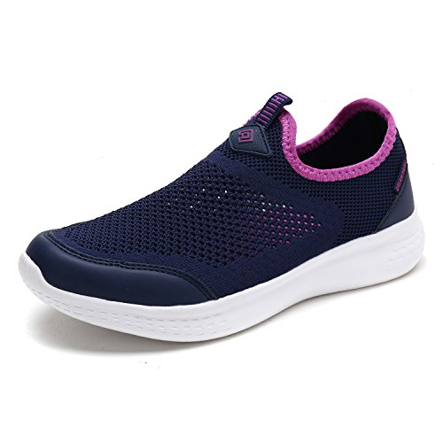 DREAM PAIRS Women's C0189_W Navy Purple Fashion Running Shoes Sneakers Size 8 M US