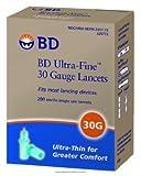 BD Medical Systems 325772 Ultra-Fine II Lancets, 30 Gauge, Sterile (Pack of 2400)