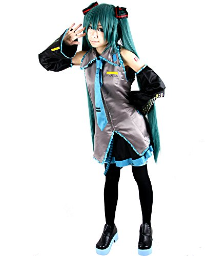 Miku Hatsune Cosplay Costume (Miccostumes Women's Vocaloid Hatsune Miku Cosplay Costume Large Grey)