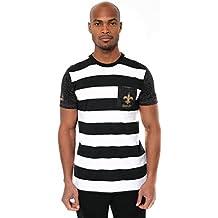NFL Men's T-Shirt Stripe Pocket Short Sleeve Tee Shirt, Team Logo Color