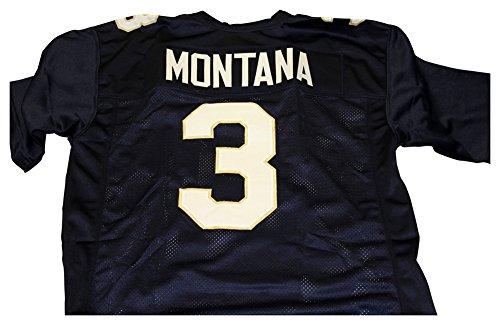Joe Montana Notre Dame Fighting Irish Unsigned Custom Football Jersey - Size (Joe Montana Football Jersey)